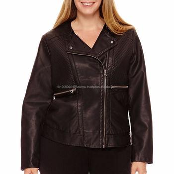 fd16a13c977 leather jackets brands original plus size women leather jacket plus size  leather studded jackets
