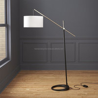 Black And Silver Floor Lamp
