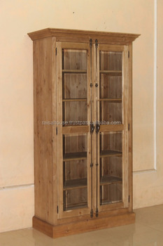 Indonesia Furniture-Bohemy Glazed Bookcase-Pine Furniture