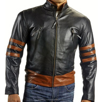 buy your own custom jacket low moq X-man wolverine 100% original leather jacket fully custom price