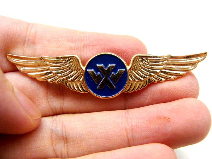 Custom Design Airline Pilot Wing Metal Badge Pin - Buy Metal