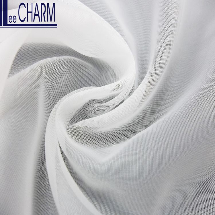 LCSH080 High Quality 20D Soft Flowing Organza Fabric for Wedding Dress Material