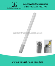 Aluminum Microblading Handle / Microblading Pen Grooved With Two Types Heads Shine White Color Finish