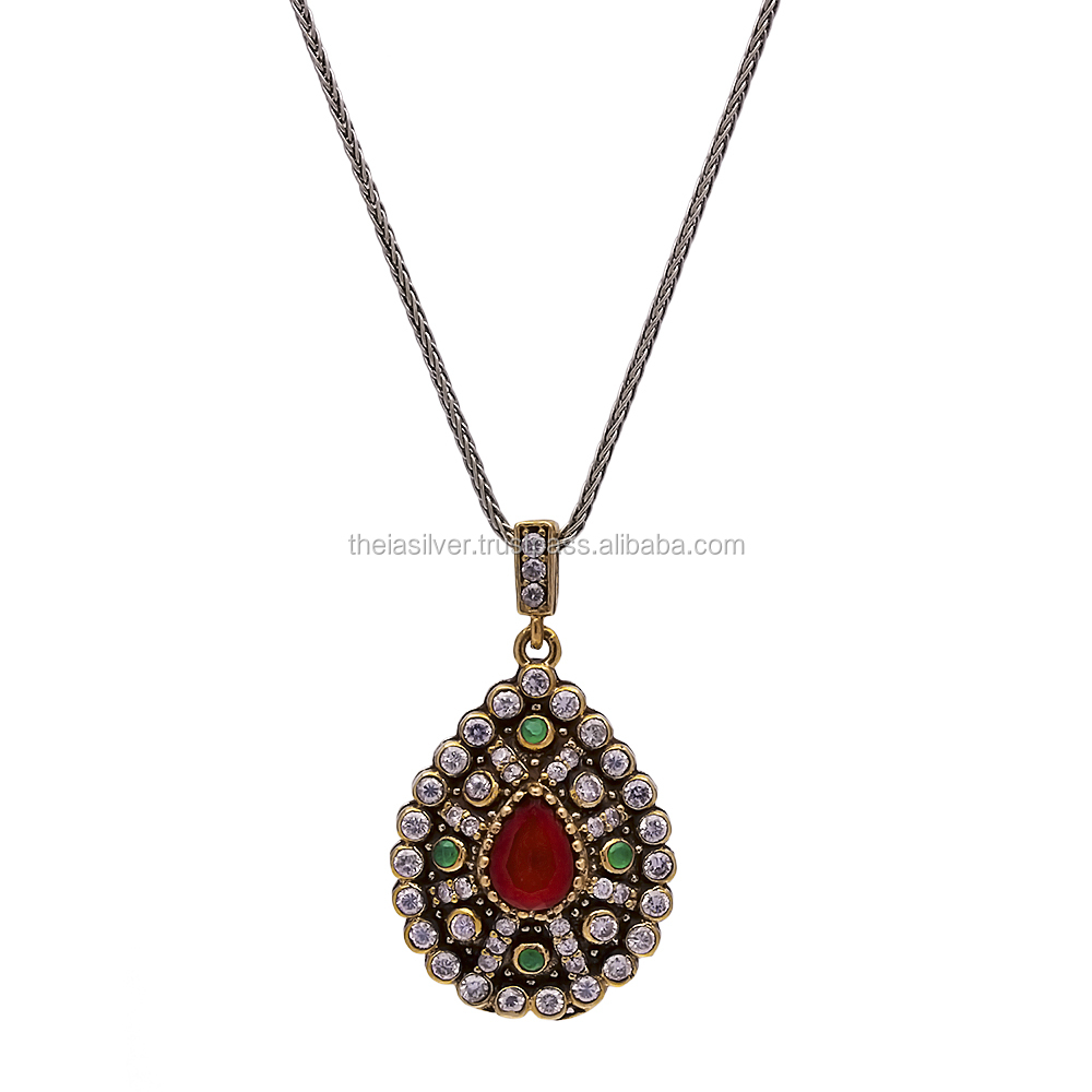 2017 New Fashion Turkish Wholesale Handcrafted Silver Authentic Necklace Pendant 925 Sterling Silver Jewelry