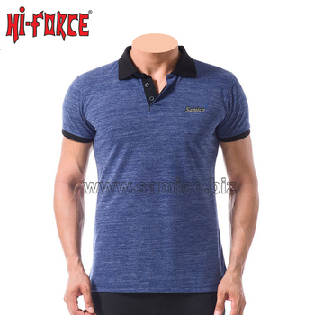 Short sleeve custom men 100% cotton polo tshirt