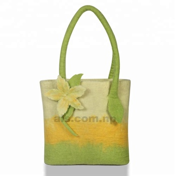 b6c4a55ea Adorable Handmade Felted Bag - Nature Floral Design - Bright Eco-friendly  product for Ladies