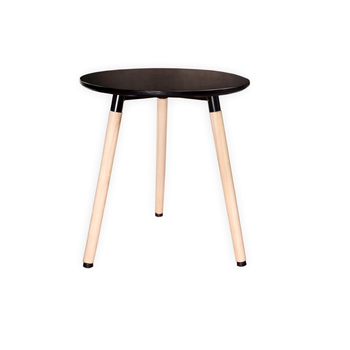 High Quality Modern Coffee White Black Round Side Table With