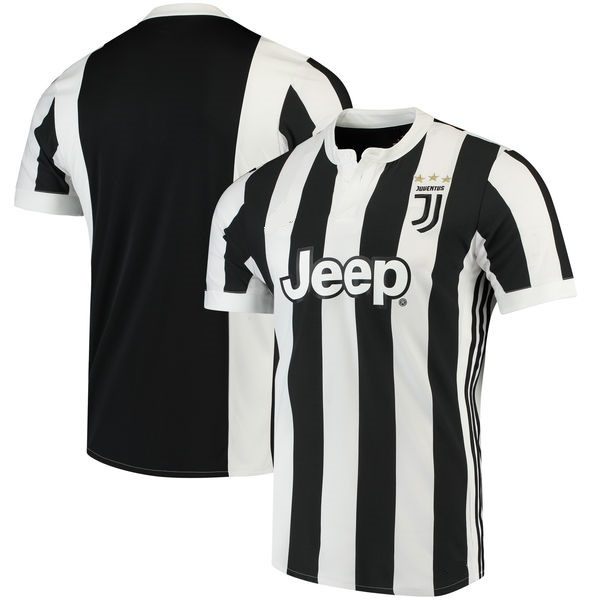 Juventus 2017/18 Home Replica Jersey White/Black Soccer Shirts