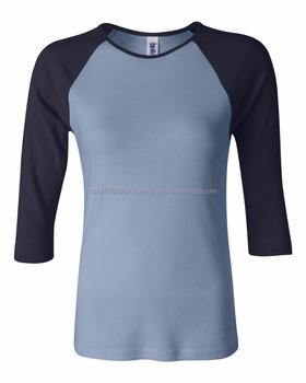 Women s Ladies Raglan 3 4 Sleeve Slim Fit T-Shirt Baseball Tee Ladies Whole 1cbc34221