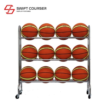 12 customize soccer ball floor display rack stand