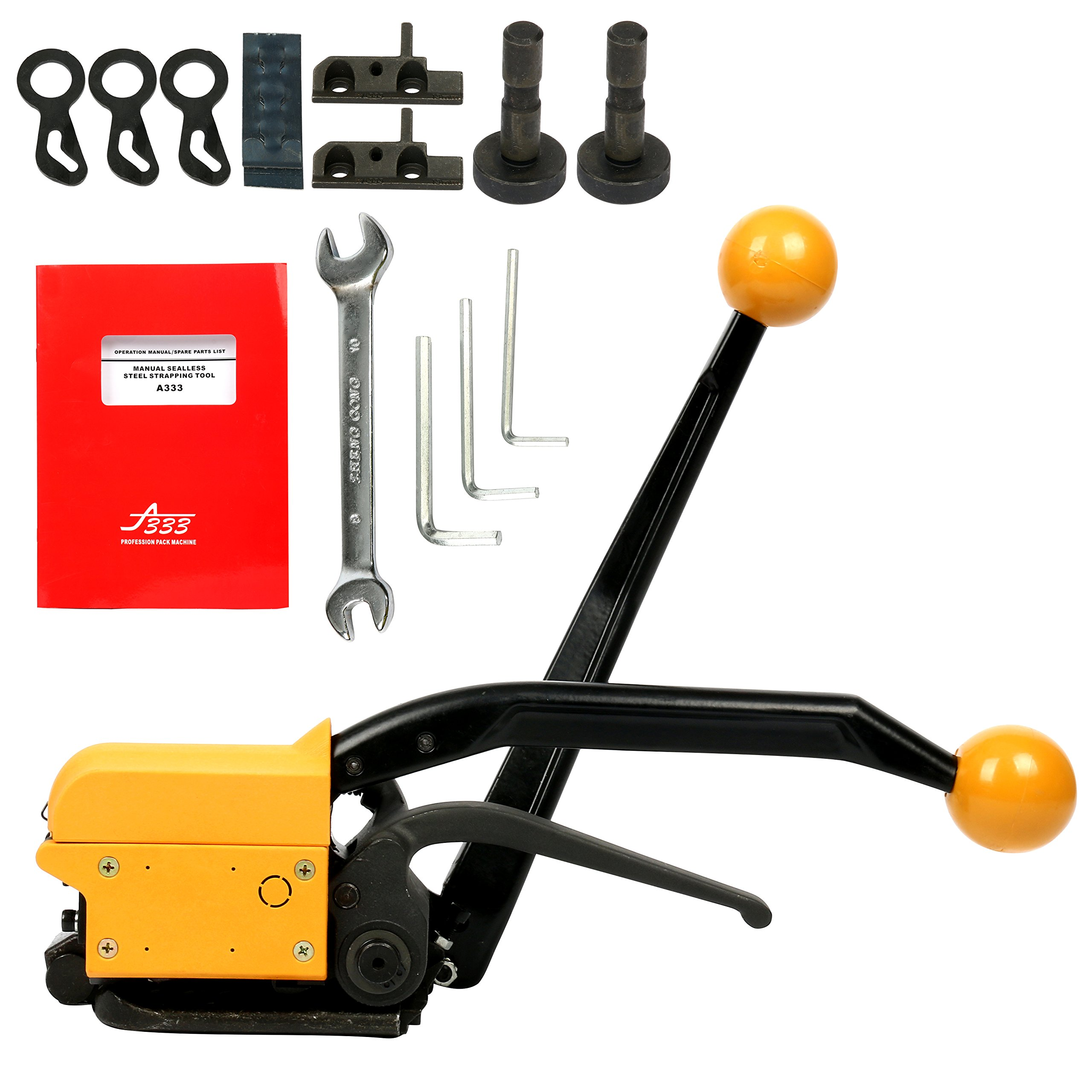 c44fd2ca18d Get Quotations · Yaetek Steel Strapping Tool A333 Manual Strapping Tool  1 2Inch 5 8Inch 3