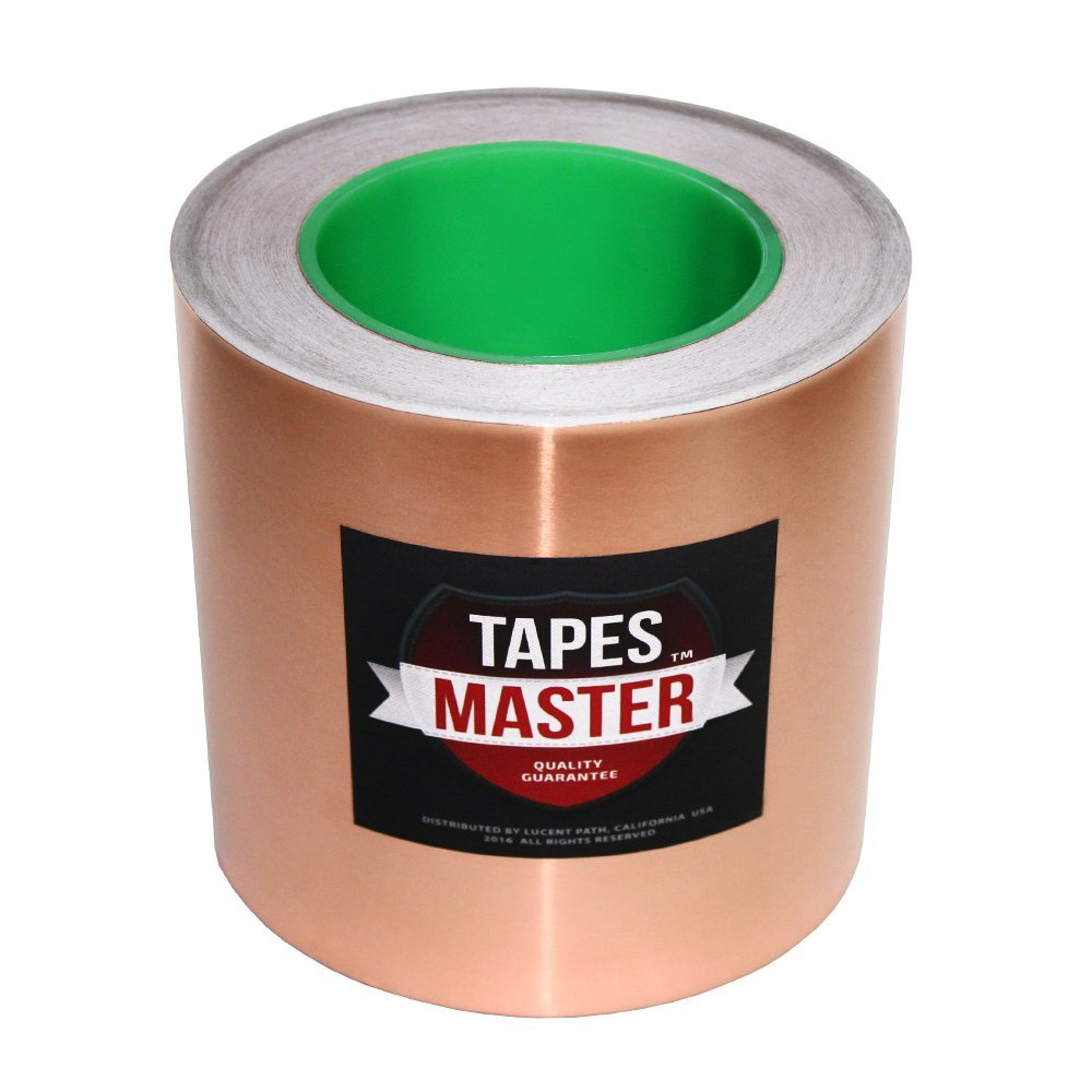 """Tapes Master 2"""", 3"""", 4"""", 5"""", 6"""" x 36 Yds Copper Foil Tape - EMI Shielding Conductive Adhesive tape (6 inch)"""