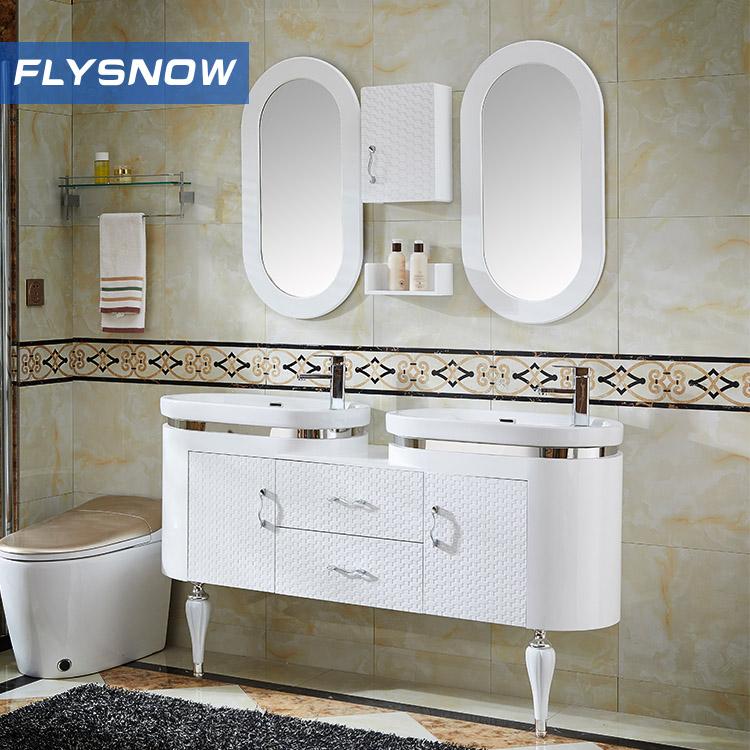 1500mm Double Sink Big size PVC bathroom vanity cabinet