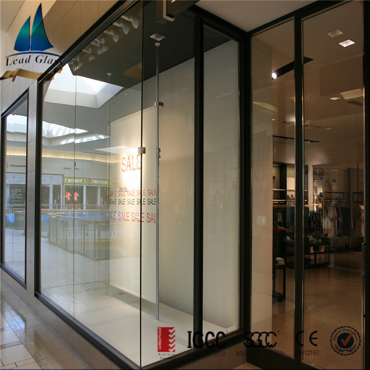 8mm 10mm 12mm Clear Tinted ESG Security Glass for Store Front Glass Door