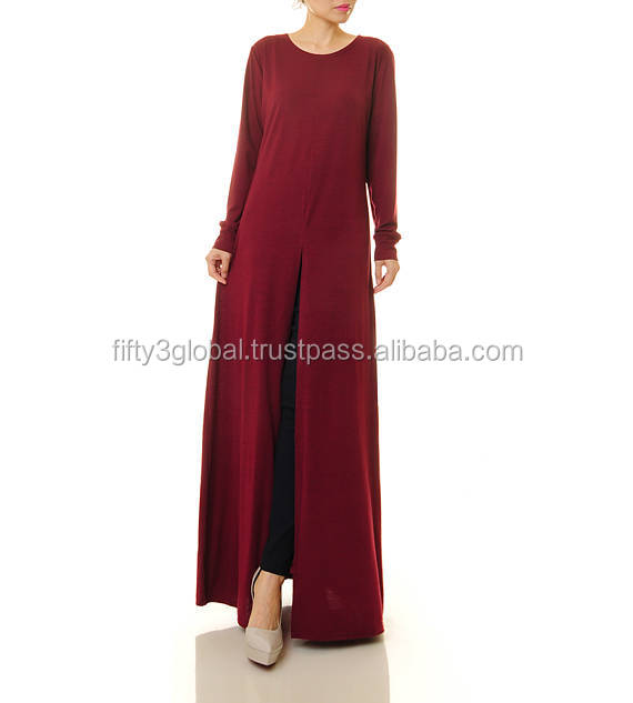 Red Colour Simple Abaya Muslim Style Very Unique Colour