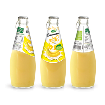 290ml Glass Bottle Fresh Banana Milk