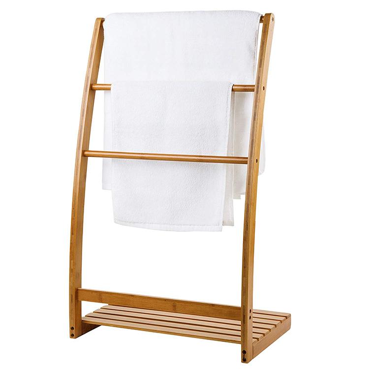 Bamboo 3 Bar Towel Rack