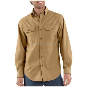 100% cotton fashion Mens denim shirt, denim blue work shirts