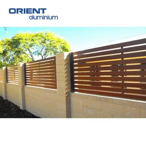 2019 new design aluminium fence slats for house yard farm