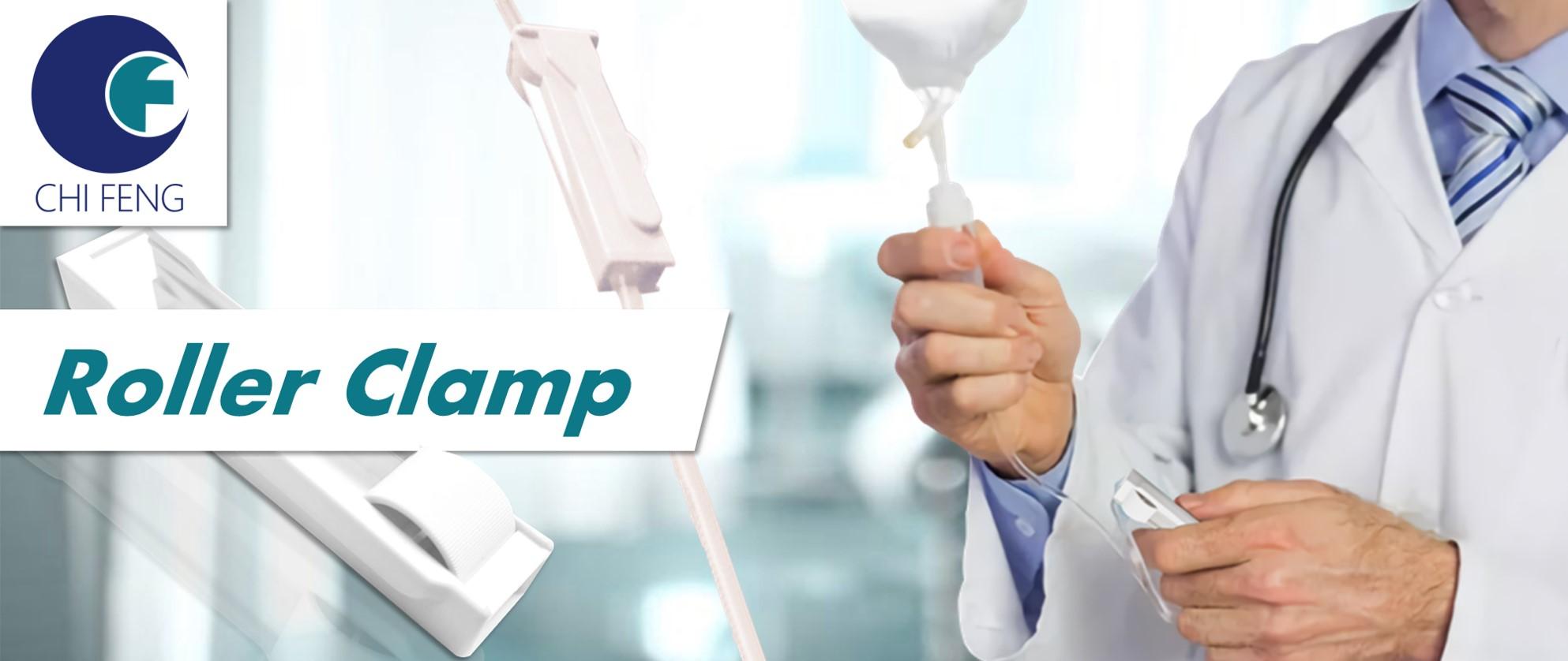 Medical plastic roller clamp ODM OEM parts service