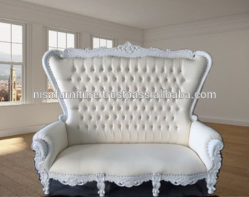 Charmant Baroque Rococo White Sofa Queen Cheap King Throne Chair