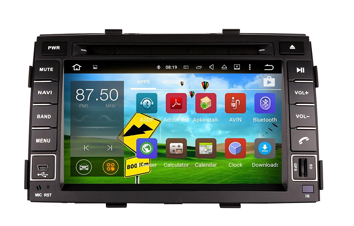 XTTEK 7 inch HD 1024x600 Multi-touch Screen in dash Car GPS Navigation System for Kia Sorento 2011 2012 2013 Quad Core Android DVD Player+Bluetooth+WIFI+SWC+Backup Camera+North America Map