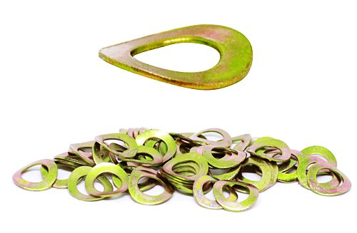 (50pcs) M10, 10mm Metric Wave Spring Steel Washer - DIN 137A, 18mm Outer Diameter Shiny Yellow Zinc by BelMetric WW10AYLW