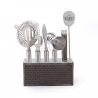 Best Quality Customized 7 Piece Bar Tool Kit Stainless Steel Cocktail Bar Set