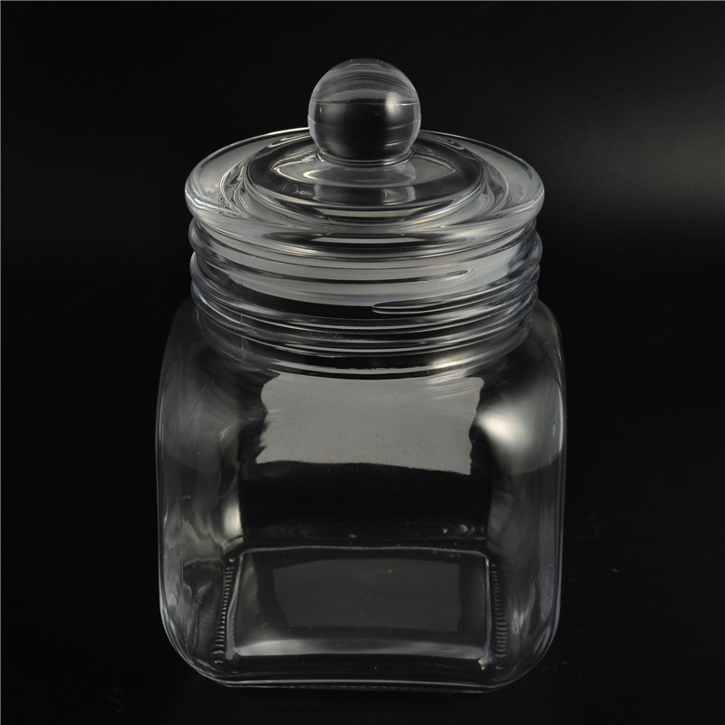 Eco freundliche lagerung glas dichtung topf candy container