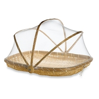 Best choice online shopping bamboo food & fruit basket with net cover by 1001 Craft Villages