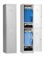 New Metal Clothes Cabinet Design 2 Doors Locker