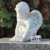 Garden life size small stone statue marble angel reading sculpture