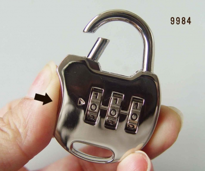 high quality 3 dial luggage combination padlock