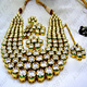 Four Line Fine Kundan Stone Long Necklace Set