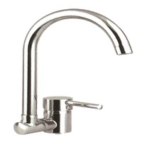 Round single lever sink O spout folding - Sanitary taps - kitchen - mixers - made in italy