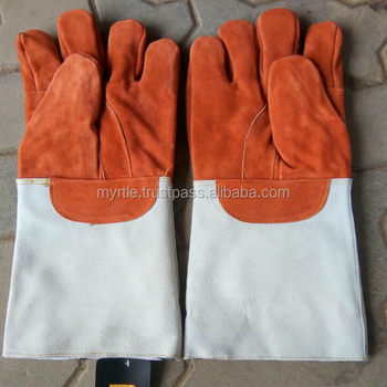 hot selling best quality, genuine split leather Welding gloves for Successful workshops