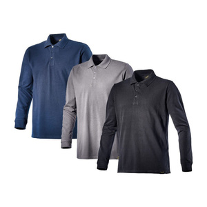 High quality long sleeve Men's polo t-shirt 100% cotton work shirts/New Mens Long Sleeves Casual Custom T-Shirt