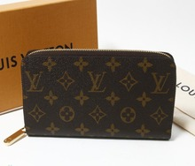 Popular Design AUTH quality latest fashion Luxury BRAND Pre owned LV M60017 Zippy Wallet for Bulksale to Retailers