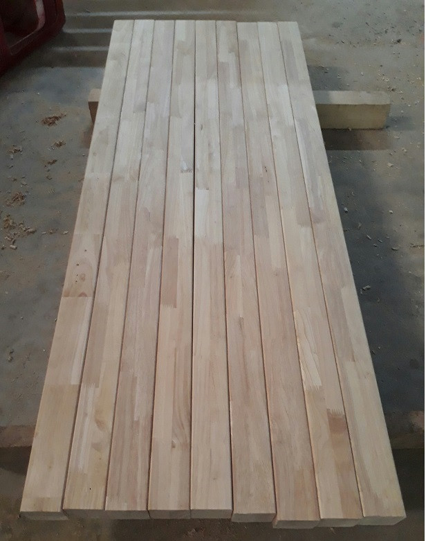 Vietnam Solid Rubber Wood Finger Joint Laminated Board For