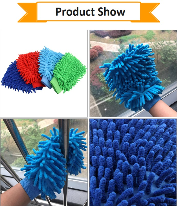 Microfiber Cleaning Glove Car Cleaning Gloves