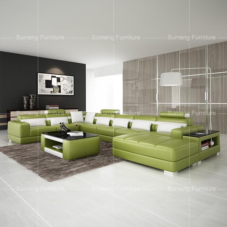 Sumeng 2016 High Quality Half-moon Shape Green Leather Sectional Sofa - Buy  Green Leather Sofa,Half-moon Shape Sectional Sofa,2016 High Quality ...