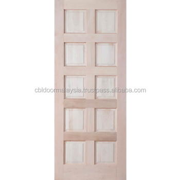 10 Panel Meranti Wood Exterior Position Entry Door Swing Open Style Malaysia Buy Door Entry Door Exterior Door Product On Alibaba Com