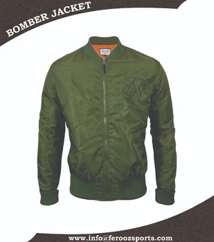 f48d4c25eeb Slim Fit Nylon Bomber jacket Ma-1Flight Bomber jacket Olive Green Jacket  fsw-3337