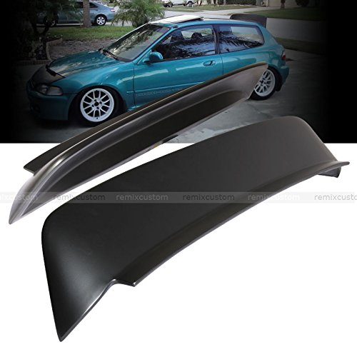 92-95 Honda Civic 3DR Hatchback Duck Tail BYS Style ABS Roof Spoiler EG 92 93 94 95