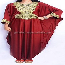 Embroidery Ethnic Vintage Moroccan Kaftan Turkish Islamic Clothing Latest Designs beaded abaya