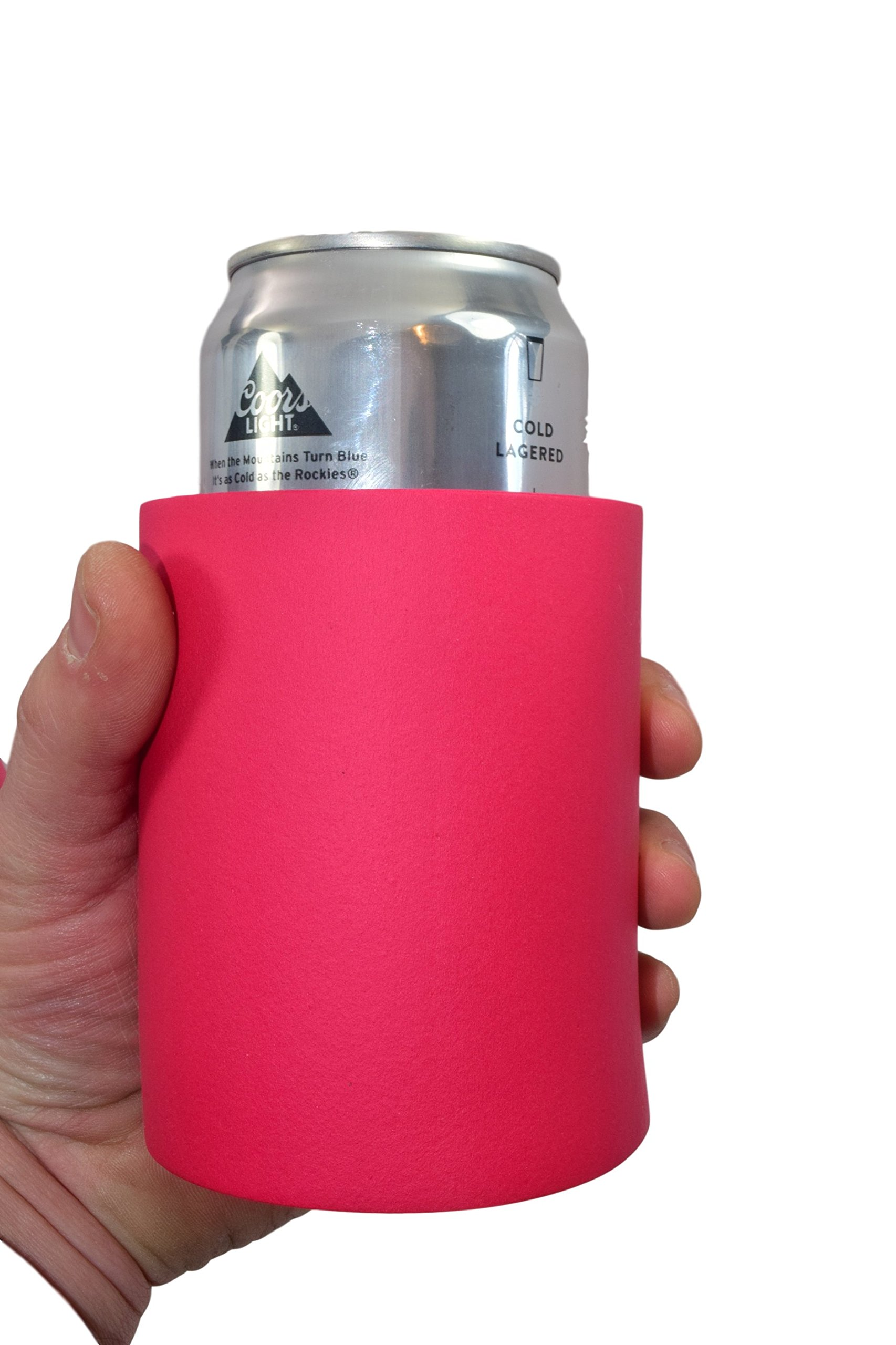 """QualityPerfection Extra Thick Blank Can Coolers ,Strong Indestructible """"Old School"""" Foam Can Insulators Beer Can Coolers Economy Bulk Perfect For Good 4 Events,Parties (2, Red)"""