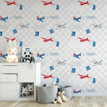 . Kids Wallpaper   Boy Room Wallpaper   Airplane Pattern   Healthy Wallpaper    Buy Cheap Wallpaper Kids Bedroom Wallpaper Wallpaper For Childrens Room