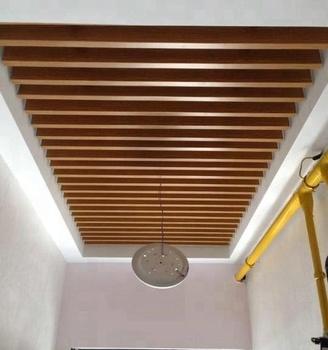 Metal Baffle Suspended Ceilings Wood Look Buy Bamboo Wood Baffle Metal Ceiling Panels Wooden False Ceiling Designs Ceiling Designs For Shops