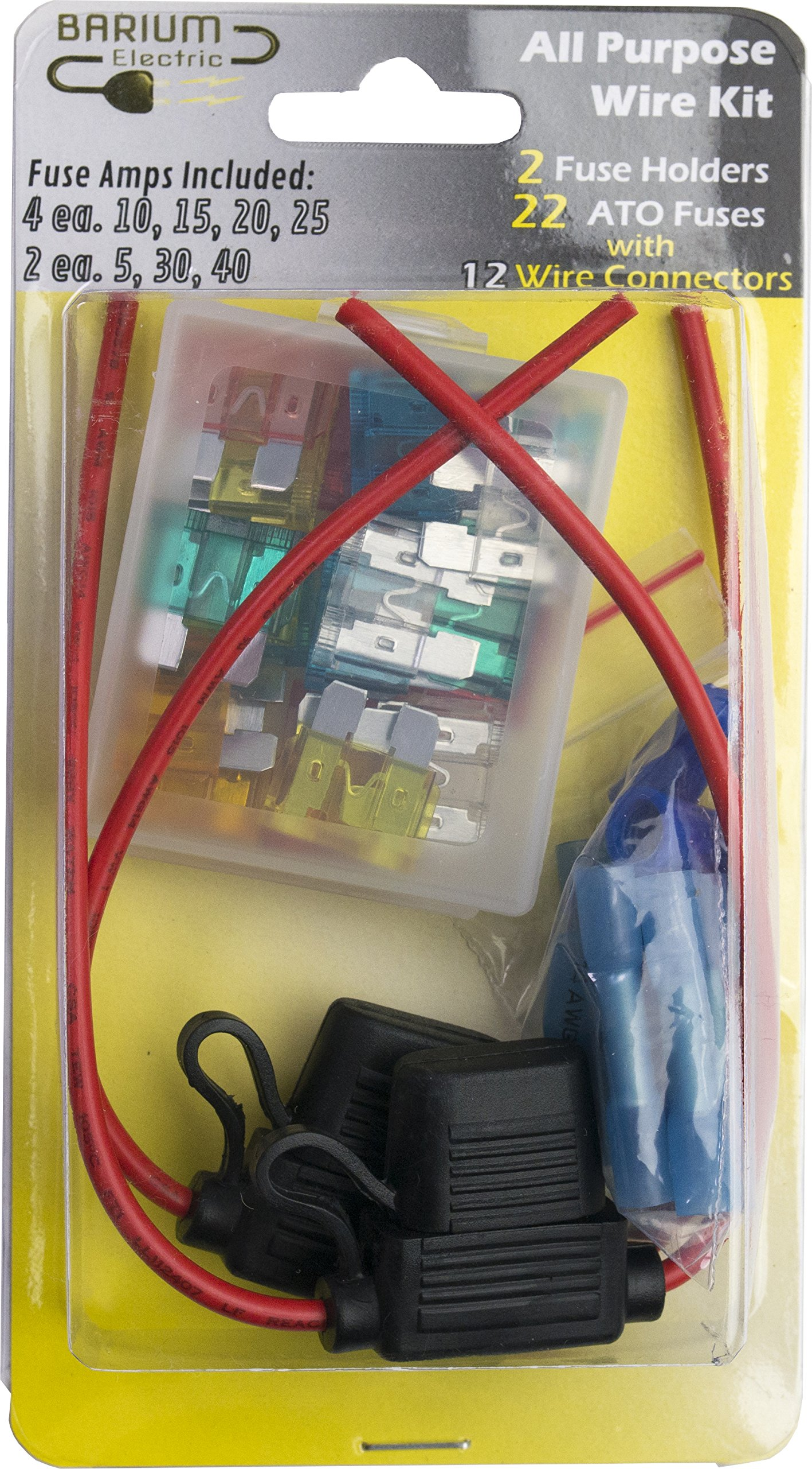 Get Quotations · Automotive Fuse Holder Wire Kit - Contains FUSES and  CONNECTORS - 14 16 18 20 AWG