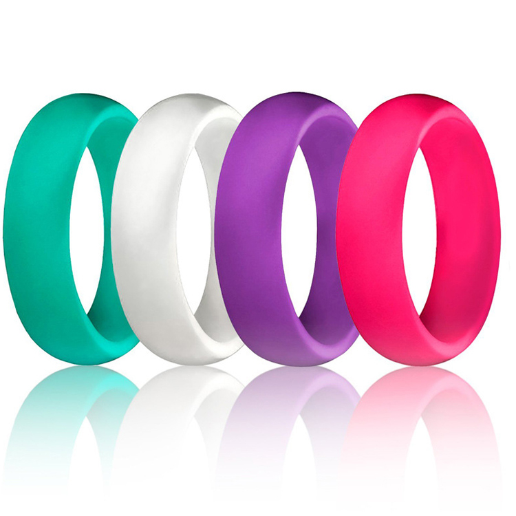 Small Lovely Popular Sports Expandable Wedding Band Silicone <strong>Ring</strong> for Mens and Women